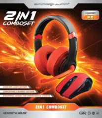 Rode Dragon War Dragonwar 2 in 1 Combo Set Gaming Headset Mouse Red Edition