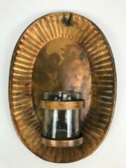 Gouden CottonCounts Mooie waxinelichthouder voor aan de muur hoogte 40 cm