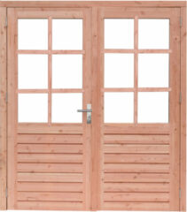 Hillhout Woodvision | Dubbele deur Prestige | Douglas | 8-ruits | Linksdraaiend | 202 x 221 cm