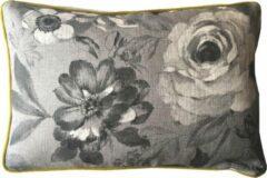 Grijze A&E Originals - Kussen Black Roses Yellow - 40 x 60 cm