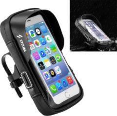 Zwarte ZWC Fietstas smartphone - Universele en waterdichte stuurhouder - 6.0 inch