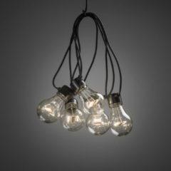 Konstsmide 2396 - Feestverlichting koppelbaar tot 40m - startsnoer 10 lamps transp 80 LED - 1000 cm - 24V - voor buiten - warmwit