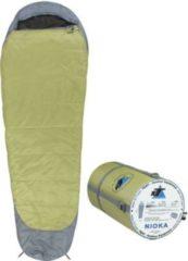 10-T Outdoor Equipment 10T Schlafsack NIOKA -12° warm weich 1560g leicht XL Mumienschlafsack 225x80 Grün / Grau 250g/m²