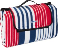 Relaxdays Picknickkleed XXL - rood-blauw - outdoor kleed - waterdicht - picknickdeken