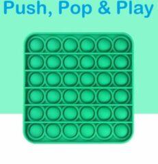 Play It POP IT® Pop It Fidget Toy anti stres speelgoed Vierkant Groen - Pop it - Fidget Toys - Fidget Toys Pop It - Fidget Toys Pakket - Simple Dimple - Fidget Speelgoed - Goedkoop - Groen