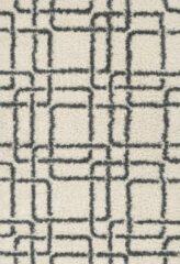 Aledin Carpets Juancho Hoogpolig Vloerkleed 160x230cm grijs/wit