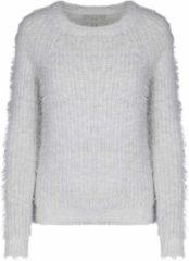 Grijze Marcez Long sleeve fluffy sweater grey