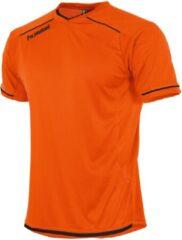 Oranje Hummel Leeds S/S Sportshirt Unisex - Maat L