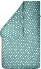 Groene BINK Bedding Dekbedovertrek Stars Olijf Ledikant 100x135 cm (zonder sloop)
