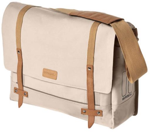 Afbeelding van Creme witte Basil Portland Messenger creme schoudertas 16-20 liter