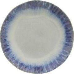 Kitchen trend - servies - dinerbord blauw - aardewerk - set van 6 - rond 26 cm
