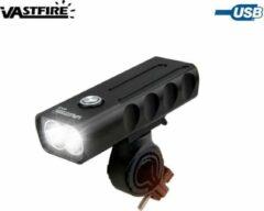 VastFire BX2 LED Fiets Koplamp - 2x CREE T6 LED Fietslamp - Aluminium behuizing - interne accu - Oplaadbaar via USB - 1000 lumen - IP waterdicht - Zwart
