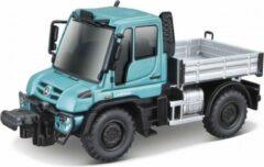 """Maisto MERCEDES-BENZ UNIMOG U430 - DUMP TRUCK Turquoise/grijs modelauto schaalmodel 4,5"""""""
