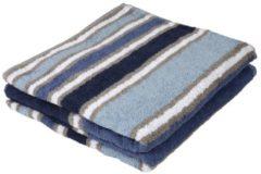 Cottonbelle Duschtuch, blau, gestreift, 2er-Set