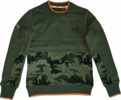 Superdry zachte groene sweater - Maat XL