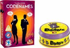White goblin Kaartspelvoordeelset Dobble Classic - Kaartspel & Codenames - Gezelschapsspel