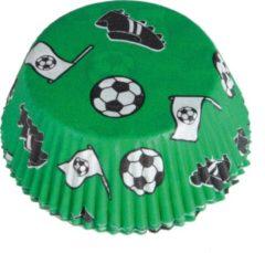 Amscan Cupcakehouder Voetbal 50 X 25 Mm Papier Groen 48 Stuks