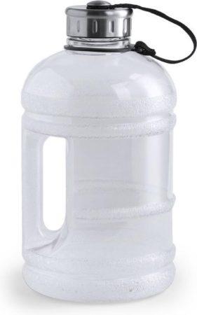 Afbeelding van Merkloos / Sans marque 1x Transparante waterfles/drinkfles met handvat en vaste dop 1,9 liter - 1900 ml - Sport accessoires/benodigdheden - Grote waterflessen/drinkflessen - Flessen voor tijdens wandelen/sporten