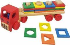 Playwood Vormen sorteer truck van hout 000112