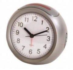 Balance Time wekker 230V/50Hz, zilver, uurwerk kwarts, voeding 230Vac