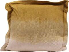 Myroundie - sierkussen - kussen - 45x45 cm - dye mosterd - pilklo