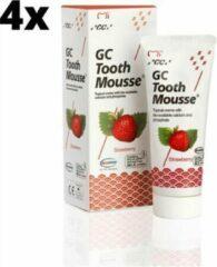 GC Tooth Mousse Strawberry - 4 stuks - Voordeelverpakking