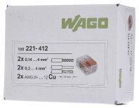 Tsong WAGO 221 Lasklem Flexibel: 0.14-4 mm² Massief: 0.2-4 mm² Aantal polen: 2 Transparant, Oranje (100 stuks)