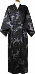Zwarte Merkloos / Sans marque ORIGINELE JAPANSE YUKATA MET WAVE DESSIN (MAAT ZIE PRODUCTBESCHRIJVING !!) DONGDONG Unisex Nachtmode kimono Maat One Size