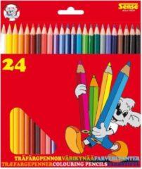 Merkloos / Sans marque 24x Speelgoed teken/kleurpotloden in verschillende kleuren - Teken/hobby/knutselmateriaal - Tekenen/kleuren met potlood