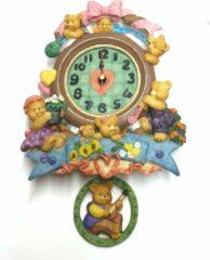 Hangklok kinderen veel kleuren – hang klok 26 cm | GerichteKeuze