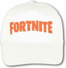 """Merkloos / Sans marque Witte Pet met Oranje """" Fortnite """" logo"""