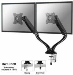 NewStar NM-D500DBLACK Monitor-tafelbeugel 2-voudig 25,4 cm (10) - 68,6 cm (27) Kantelbaar, Zwenkbaar