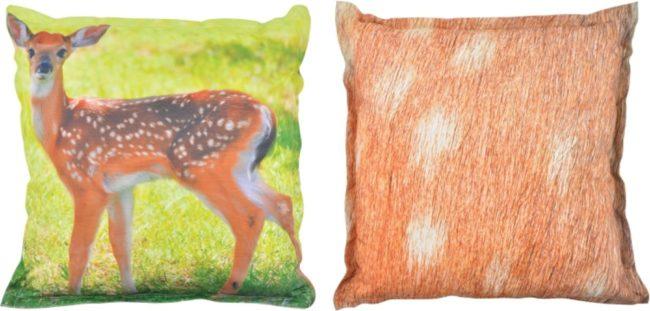 Afbeelding van Esschert design Nature Print Buitenkussen hert L