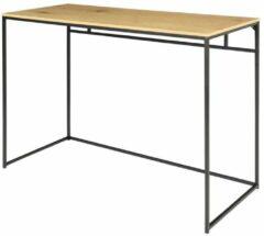 Maison Home Maison's Bureau - Tafel - Laptoptafel - Bureautafel - Industrieel - Zwart/Hout - 45x100x75cm
