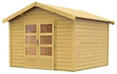 Karibu Woodfeeling | Tuinhuis Tastrup 7 | 304 x 304 x 250 cm | Onbehandeld