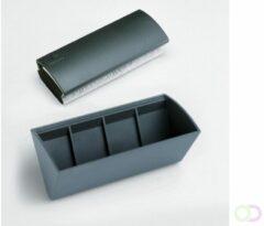 Antraciet-grijze Legamaster glasbord accessoirehouder - zwart