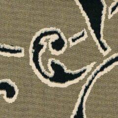 Acrisol Nebrodi Tierra 225 taupe, zwart, bruin motief stof per meter buitenstoffen, tuinkussens, palletkussens