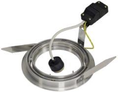 SLV 111380 Inbouwlamp Energielabel: Afhankelijk van de lamp GU10 Aluminium (geborsteld)