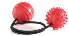 Rode Gymstick Myofascia Massage Bal met Touw