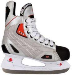 Zilveren Nijdam IJshockey schaatsen maat 40 polyester 3385-ZZR-40