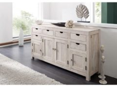 Sideboard NATURE WHITE Massivmoebel24 white stone