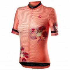 Castelli - Women's Primavera Jersey - Fietsshirt maat XS, rood/beige