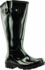 Regenlaarzen WIDE WELLIES Zwart Kuitwijdte L (40 cm) maat 37