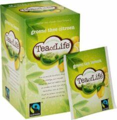 Tea of Life groene thee citroen 4 * 20 zakjes