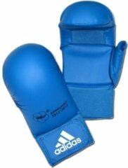 Adidas WKF karatehandschoenen met duim blauw maat M