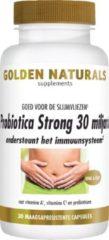 Golden Naturals Probiotica Strong 30 miljard (30 veganistische maagsapresistente capsules)