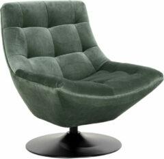 Richmond Interiors Richmond Fauteuil 'Richelle' Velvet, kleur groen