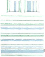 ISeng Mary - Dekbedovertrek - Eenpersoons - 140x200/220 cm + 1 kussensloop 60x70 cm - Blauw