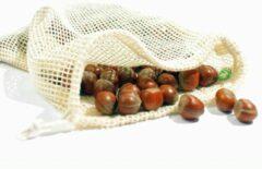 Creme witte Natuurlijkerleven Fruit & Groente Netje 100% Katoen - Small (Bio)