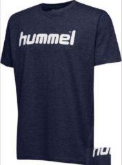 Marineblauwe Hummel Unisex T-shirt - Blauw - Maat M